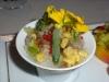 Vegetables with vegetable granite