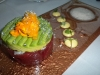 Dungeness and ahi with avocado
