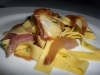 Tagliatelle with guanciale and parsnips