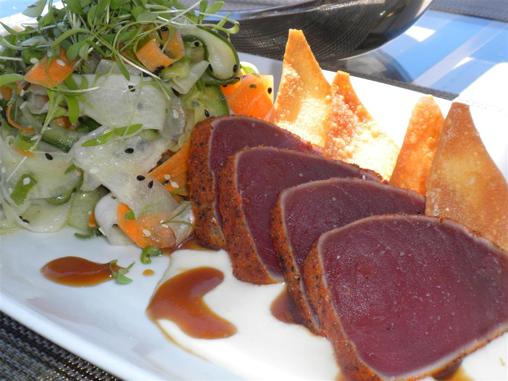 Creole-crusted yellowfin