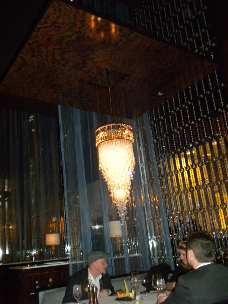 You ain\'t eaten steak until you\'ve eaten it under a CHANDELIER!