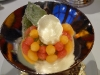 Summer fruits with sorbet