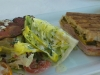 Cuban sandwich with lettuce wedge