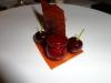 Foie gras with beet borscht gelee
