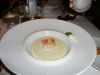 Peekytoe crab in corn veloute
