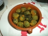Pork stuffed green olives