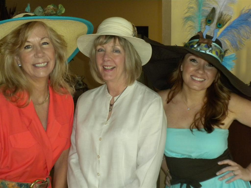 Jolene, Food Gal #1 and Jackie celebrate Derby Day