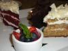 Cake dessert trio