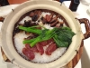 Chinese sausage and pork hot pot