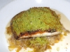 Pistachio-crusted redfish