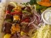 Fat Greek mixed kebabs