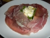 Proscuitto with burrata