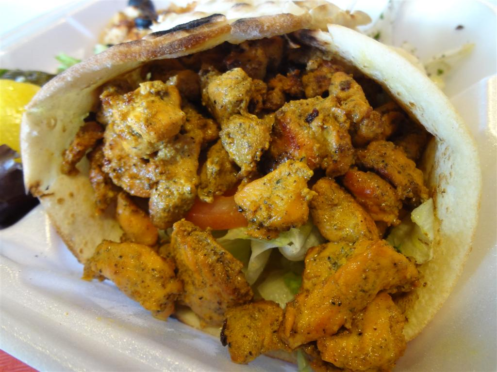Shredded chicken at Flame Kabob