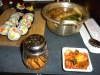 Sushi, soup and kim chee