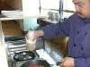 Charles makes ELV an omelet
