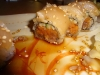 Spicy roll close-up