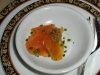 Cured salmon amuse