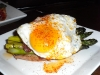 Asparagus with duck egg