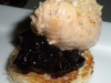 Foie gras with huckleberries PB&J