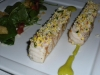 Grilled sturgeon with sauce Gribiche