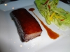 NE3 pork belly with spicy mangavocado salad