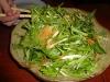 Tossed mizuno salad