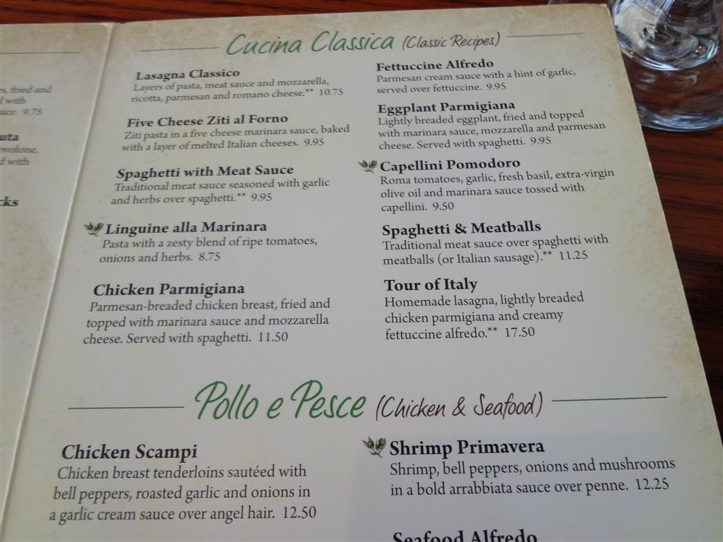 Menu For Olive Garden: OLIVE GARDEN Comes On Strong