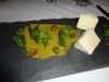 Cheese with pistachio cream