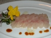 Sea bass sashimi