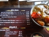 Menu and curry bowl