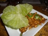 Minced chicken with lettuce wraps