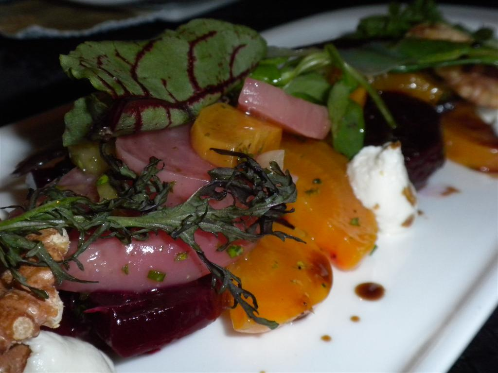 Roasted beets and goat cheese at SAGE