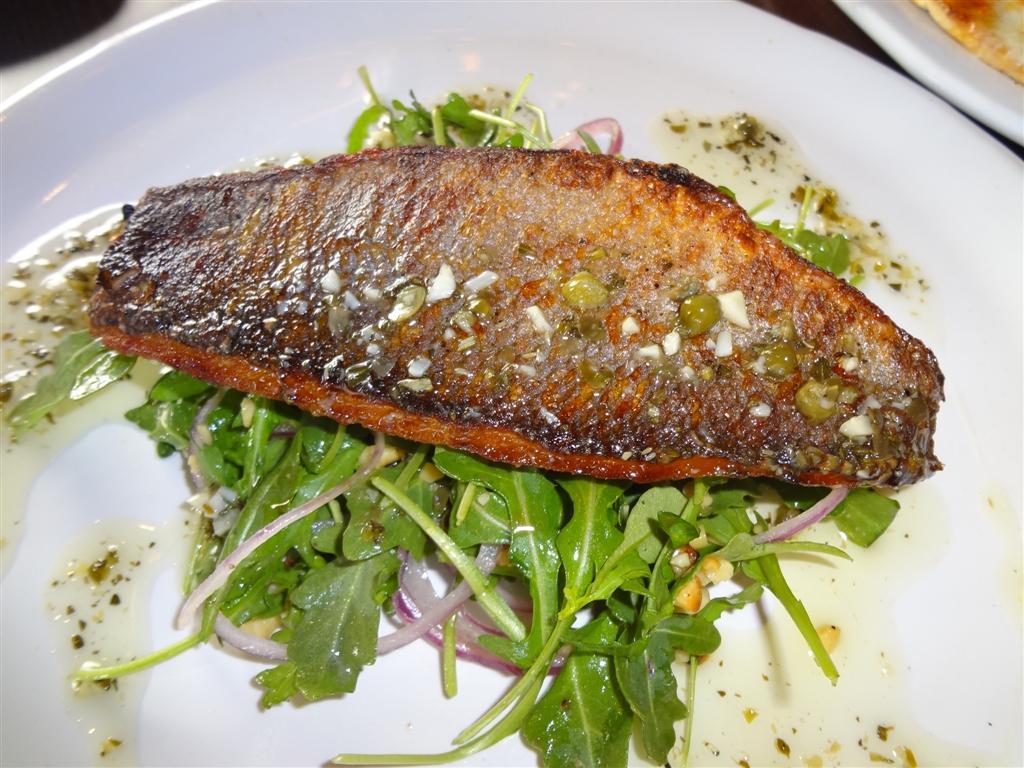 Eat this now roasted branzino at due forni eating las for Branzino fish recipes