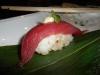 Big eye tuna with sake wasabi