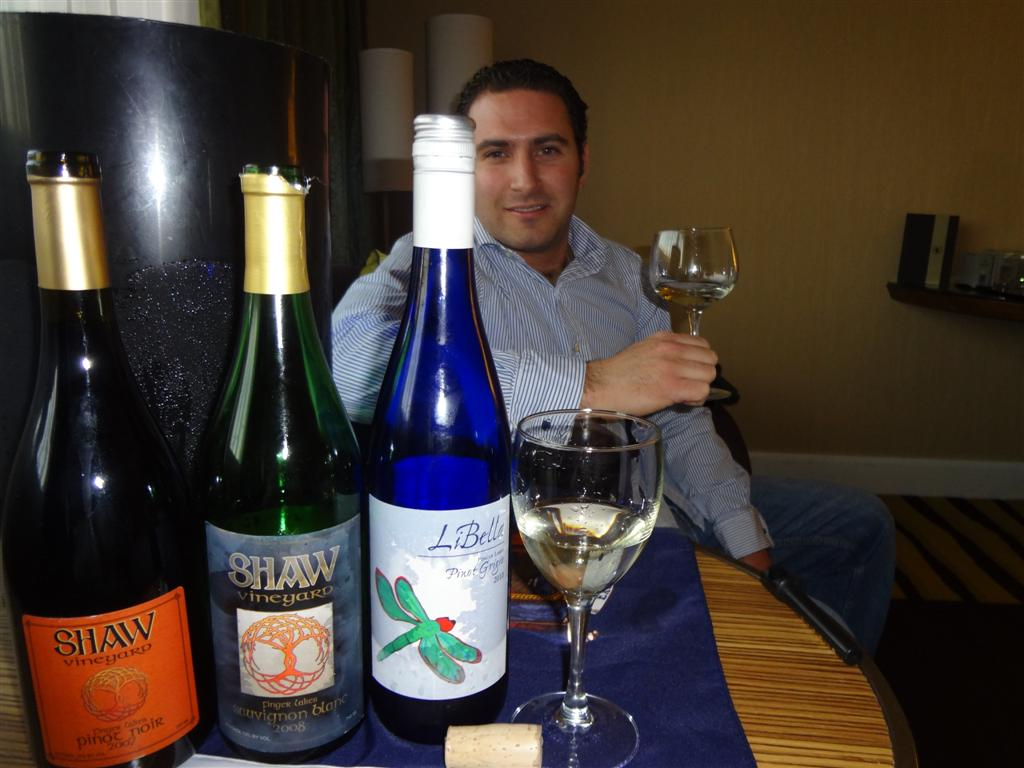 Steven Shaw Jr. and his Finger Lakes wines
