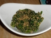 Spinace with sesame dressing