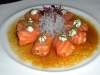 Salmon with wasabi creme fraiche