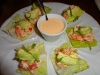 Spicy crab lettuce cups