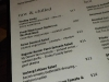 Locavore menu