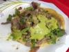 Tacos El Gordo carne asada taco