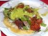 Tacos El Gordo chorizo taco