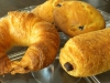 Golden croissant, muffin tops, pain au chocolate