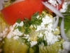 House salad extreme close-up!