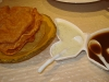Papadum with two sauces