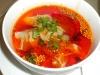 Dumpling/chile soup