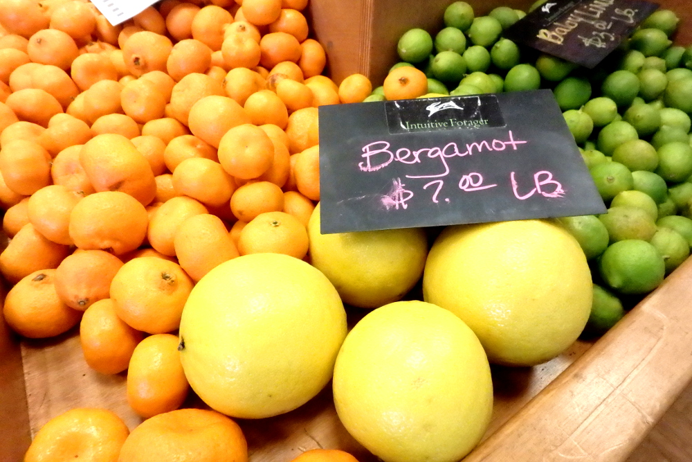 Large bergamots seen on sale at The Intuitive Forager Saturday farmers' market in Downtown Summerlin, Sat. Jan 30, 2016. (Photo credit: Greg Thilmont)